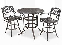 Big Sale Home Styles 5555-359 Biscayne 3-Piece Bistro Set, Rust Bronze Finish