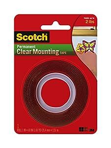 3M Scotch Heavy Duty Mounting Tape, Clear (4010)