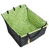 Fuloon Autoschutzdecke Wasserdicht Verdoppelte Schicht Hundedecke Hochwertige Hängematte Autositz Schondecke Sitzbezug für Haustier (M, Grün)