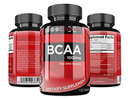 DBA Evolve ~ Branched Chain Amino Acids BCAA (Leucine Isoleucine Valine) Pre & Post Workout Supplement: Fitness Training Formula Stimulates Muscle Protein Synthesis, Maintains Mass & Prevents Fatigue (On 1000 Cap Bcaa compare prices)