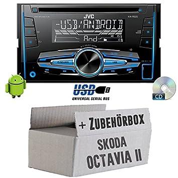 Skoda Octavia 21Z-JVC KW R520E-Autoradio 2DIN Kit de montage encastré -