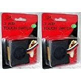 2 Touch Light Sensors (Color: Black)