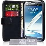 Samsung Galaxy Note 2 Tasche PU Leder Brieftasche Hülle
