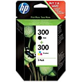 HP 300 Ink Cartridge Combo Pack - Black/Tri-Colour