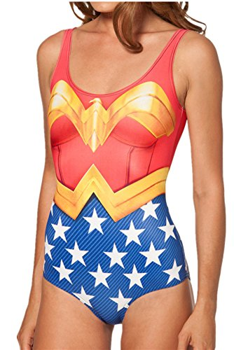 Women one Piece Swimsuit Beach Wear Wonder Woman - Low Cost - Standard Size