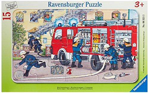 Ravensburger - Puzzle enfant - Ma Voiture De Pompier - 15 Pièces - 1