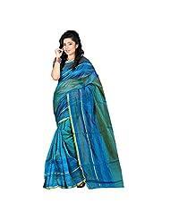 Murli Manohar Fashion Women's Cotton Stone Work Blue Saree