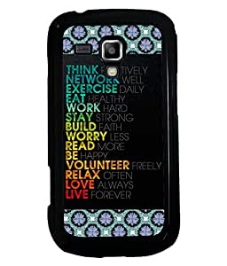 PRINTVISA Thought of Life Premium Metallic Insert Back Case Cover for Samsung Galaxy S Duos 2 S7582 - D5759