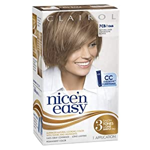 Clairol Nice 'N Easy Hair Color 106b Natural Dark Champagne Blonde 1 Kit (Pack of 3) (packaging may vary)