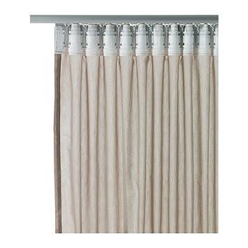 ikea gardinen set vivan 2 gardinenschals beige in 300 x 145 cm mit kanalsaum verdeckten. Black Bedroom Furniture Sets. Home Design Ideas