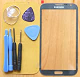Gray Replacement Front Screen Glass Lens for Samsung Galaxy Note2 II N7100+Tools