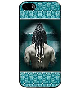 PrintDhaba Trishul D-5688 Back Case Cover for APPLE IPHONE 4 (Multi-Coloured)