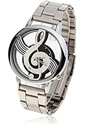 Suppion Watches Note Music Notation Metal Quartz Wristwatch Fashion