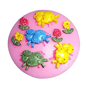 Funny kitchen baking mold tools happy running for Decorate with flowers amazon