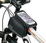 Radfahren-Rahmentasche-Intsun-Smarphonetasche-Kopf-Schlauchbeutel-Oberrohr-Fahrrad-Handytasche-Halter-Halter-Steuerrohr-Taschen-Packung-mit-klaren-PVC-Schirm-und-Doppeltasche-fr-iPhone-6s-Plus-iPhone-