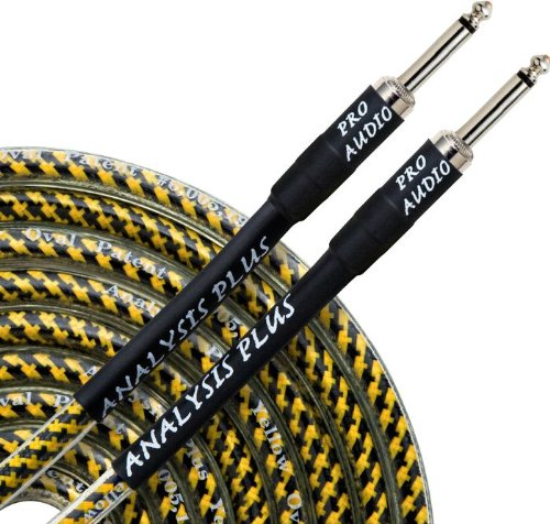 "w// STRAIGHT//STRAIGHT Plugs Analysis Plus PAIR Of 6"" Black Oval Patch Cables"
