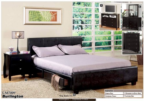 new standard eastern king size espresso platform bed w 6 drawers on sale usa bed. Black Bedroom Furniture Sets. Home Design Ideas