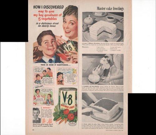 V8 Cockatail Vegetable Juices V-8 Give The Goodness Of Vegetables Home Drink 1948 Original Vintage Advertisement