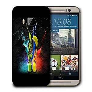 Snoogg Bottle Color Printed Protective Phone Back Case Cover For HTC One M9
