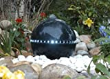 Ubbink® Wasserspiel Dubai - Terrazzo-Kugel mit umlaufender LED Beleuchtung Komplettset