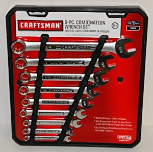 Craftsman 9 pc. Standard 12 pt. Combination Wrench Set, # 47044