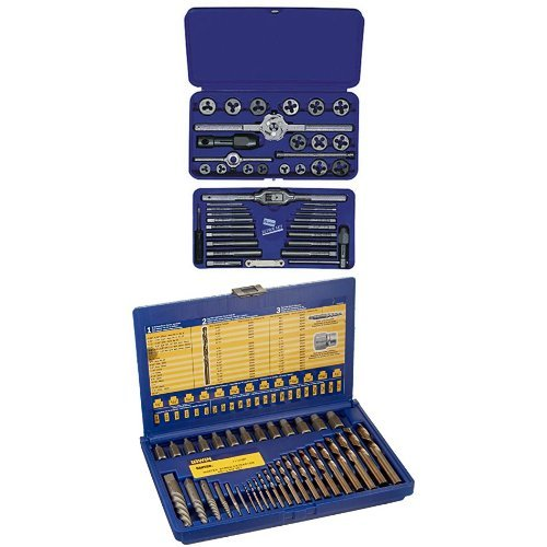 IRWIN Tools Metric Tap and Hex Die Set and Screw Extractor and Drill Bit Set