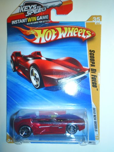 hot wheels red scoopa di fuego 2010 hw premiere 2010 40 214