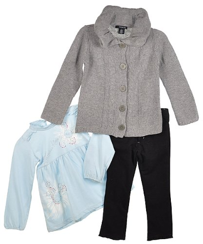 "Calvin Klein Girls ""Misty Chill"" 3-Piece Outfit (Sizes 4 - 6X) - assorted colors, 6"