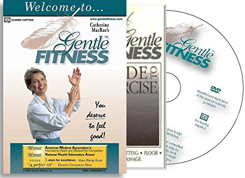Gentle Fitness DVD - The Original Award-Winning Chair Exercise / Chair Yoga Home Program for Seniors, People Living with Stiffness, Stamina Issues. Therapeutic Breathing, Smart, Fun, and Easy-to-Follow. You Deserve to Feel Good! Free, 20-pg Guide to Exercise. (Senior Fitness Program compare prices)