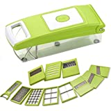 Bright 12 In 1 Fruit & Vegetable Chipser & Chopper Green [BE_02 Green ] - B071XMVWR2