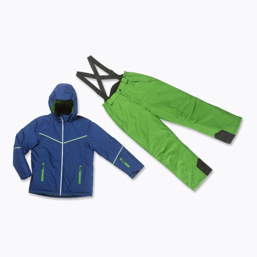 Skianzug 2tlg. Funktioneller Skianzug Für Jungen Gr. 140 Farbe. Blau-Grün Schneeanzug Thinsulate Skijacke jetzt bestellen