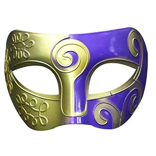 [TIFENNY Retro Roman Gladiator Halloween Party Masks Mardi Gras Masquerade Mask (E)] (Scuba Costume Child)