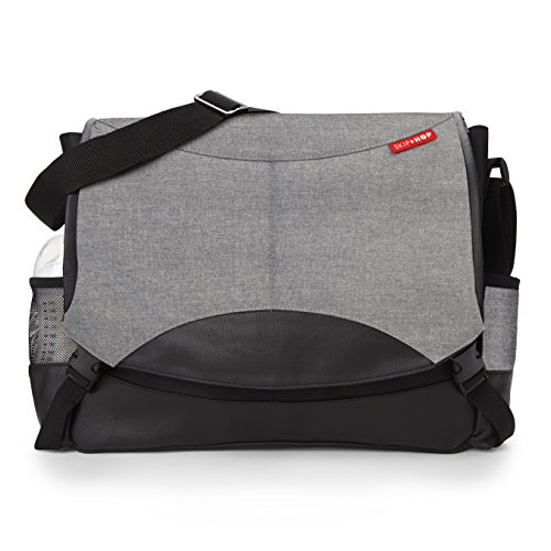 skip-hop-baby-all-in-one-swift-changing-station-messenger-diaper-bag-unisex-heather-grey