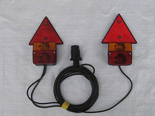 kit luci magnetiche fanali posteriori per carrello appendice e rimorchio