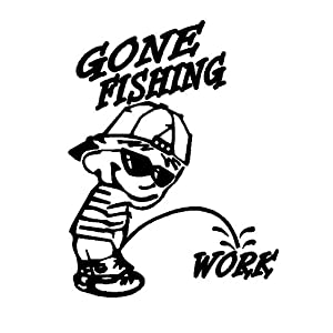 Gone Fishing Sticker - CHOOSE ANY COLOR!!!