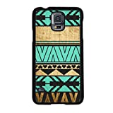 TPT New Fashion Aztec Wood Turquoise Pattern Hard Back Case Cover for Samsung Galaxy S5 I9600