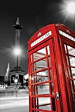 London Trafalgar Square Phone Box Maxi Poster, Multi-Colour