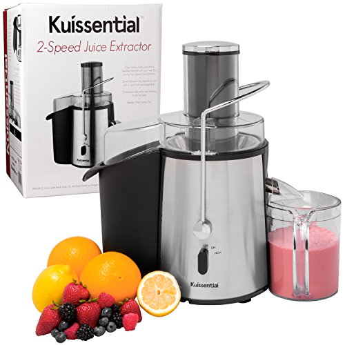 Professional Juicer - 2-Speed 700 Watt Electric Centrifugal Juice Extractor By Kuissential - Stainless Steel (Found Juice compare prices)