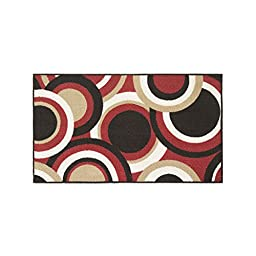 Modern Living Circles Decorative Area Accent Rug, 18 by 30-Inch