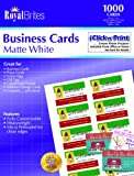 Royal Brites Matte Business Cards, White, 2 x 3.5 Inches, Pack of 1000  (28992)