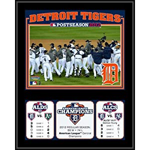 MLB Detroit Tigers 2012 American League Champions Sublimated Plaque by Mounted Memories