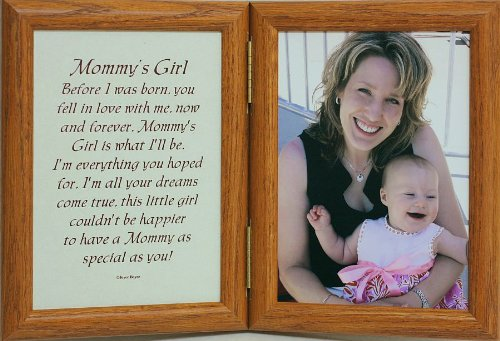 5X7 Hinged Mommy'S Girl Poem Oak Picture Photo Frame ~ A Wonderful Gift Idea For A New Mother, Mother'S Day, Valentines Day, Birthday Or Christmas Gift!