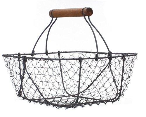 Metal Basket With Holes : Vintage style wire shabby garden chic basket home decor