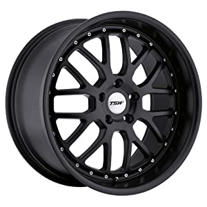 TSW Valencia 18 Matte Black Wheel / Rim 5×120 with a 32mm Offset and a 76 Hub Bore. Partnumber 1880VAL325120M76