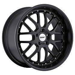 19×8 TSW Valencia (Matte Black) Wheels/Rims 5×112 (1980VAL455112M72)