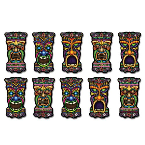 Mini Tiki Cutouts   (10/Pkg)