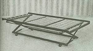 Coaster Daybed Pop-Up Trundle Frame and Rail, Twin