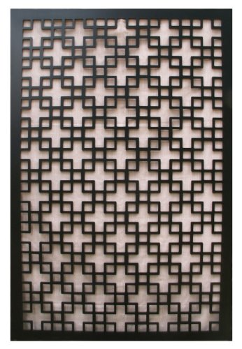 Acurio Chinese 1 Black Vinyl Lattice Decorative Privacy Panel (Outdoor Privacy Panels compare prices)