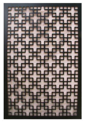 Acurio Chinese 1 Black Vinyl Lattice Decorative Privacy Panel (Outdoor Privacy Panels compare prices)