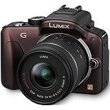 Panasonic Lumix DMC-G3KEG-T Systemkamera (16 Megapixel, 7,5 cm (3 Zoll) Touchscreen, elek. Sucher) Gehäuse braun inkl. Lumix G Vario 14-42mm Objektiv